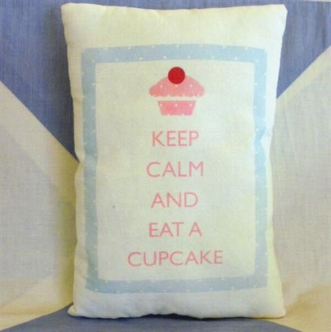 Keep Calm and Eat a Cupcake  Shabby Chic  by VintageStyleHome, £6.99