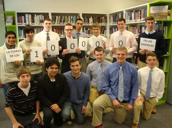 Estudiantes del Boston College High School y del Colegio María Reina de Lanús de visita en la Embajada.