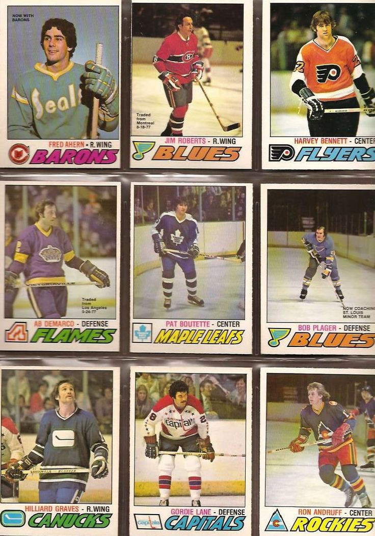 280-288 Fred Ahern, Jim Roberts, Harvey Bennett, Ab DeMarco, Pat Boutette, Bob…
