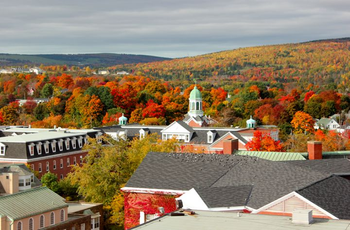 Photograph of Antigonish, Fall 2014. From a radio station's Facebook pictures.