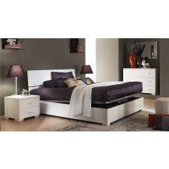 Cama canapé con cabecero MONTBLANC 160x200 cm