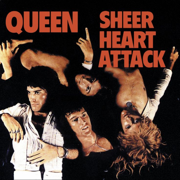 Queen - Sheer Heart Attack (album cover art) 1974
