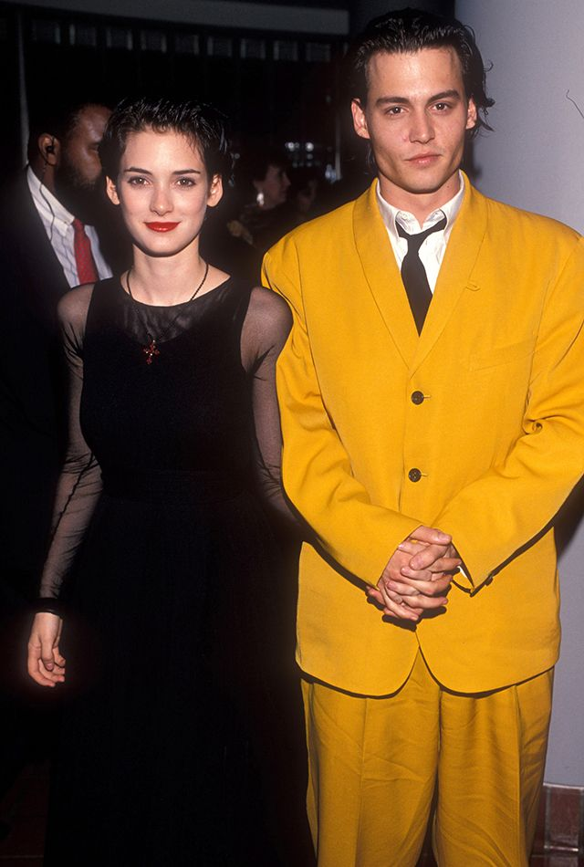 Winona Ryder says Johnny Depp -- who she was engaged to for three years -- was never abusive towards her.