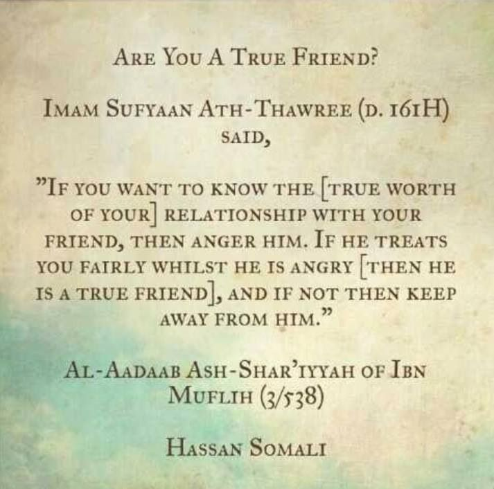 Islamic Quotes For Friendship: True Friend