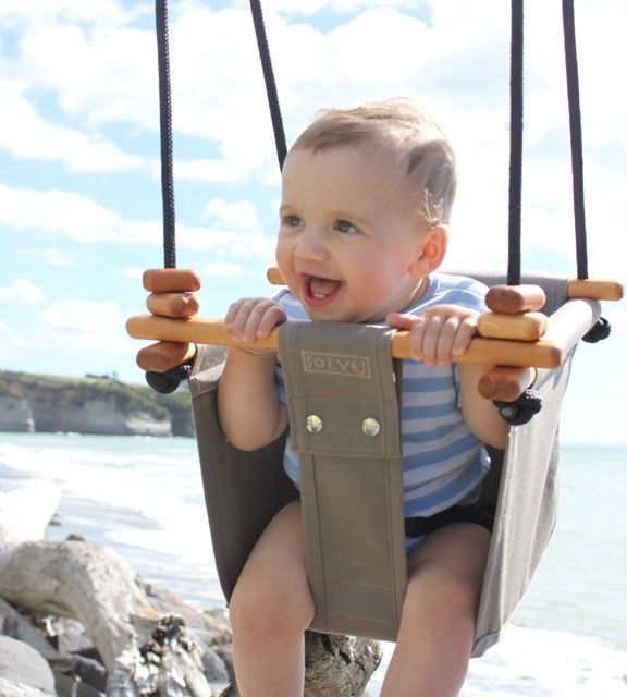 Solvej Baby and Toddler Swing Taupe - Baby Toys - Shop