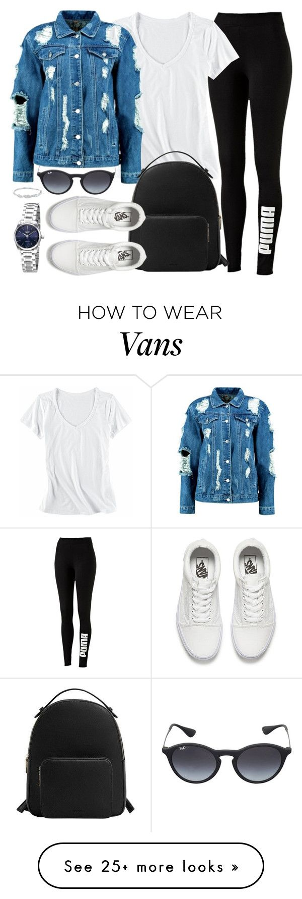Sporty by monmondefou on Polyvore featuring Puma, Ray-Ban, Horny Toad, Boohoo, MANGO, Vans and Longines