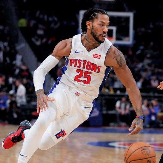 Derrick Rose At Detroit 20191028 Derrick Rose Rose Nba Detroit Pistons