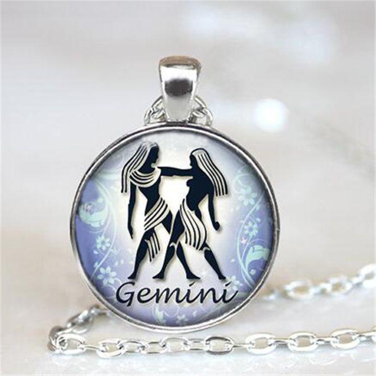 Gemini Necklace Zodiac Jewelry Astrological Sign Gemini Birthday Jewelry Gemini Horoscope Pendant Choker Necklace HZ1 #Affiliate