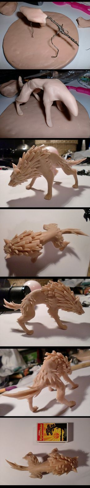 Wolf Link Sculpey WIP by LONGELF