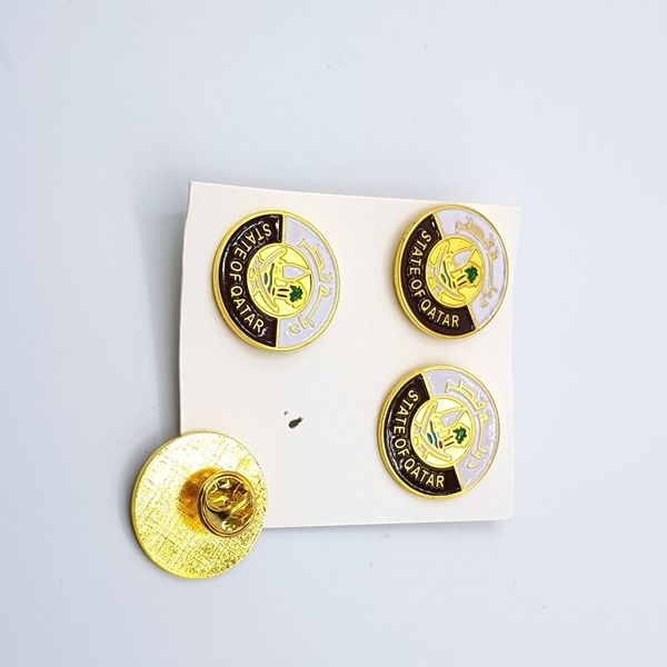 بروش معدن شعاردولة قطر مع دبوس من الخلف حجم صغير هدايا اليوم الوطني قطر Qatar National Day Gifts Enamel Pins