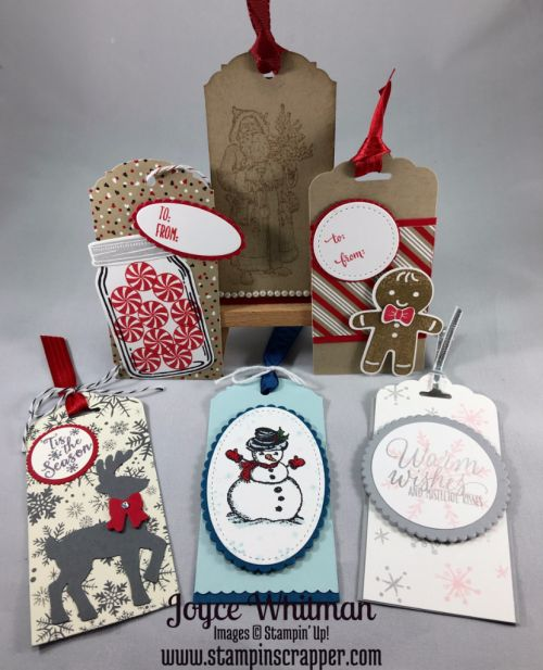 Stampin Up, Stampin' Up! Candy Cane Christmas #142037, Cookie Cutter Christmas #142043, Cookie Cutter Builder Punch #140396, Hang Your Stocking #142114, Father Christmas #142125, Christmas Magic #142119, Santa's Sleigh Thinlits Dies #140278, Tin of Tags #142180, Jar of Love #141587, Perpetual Birthday Calendar #137167, Peaceful Pines #139728, Snow Place #139738, This Christmas DSP #141628,Cookie Cutter Builder Punch #140396, Stiched Shapes Framelits Dies #145372, 1' circle punch #119861…