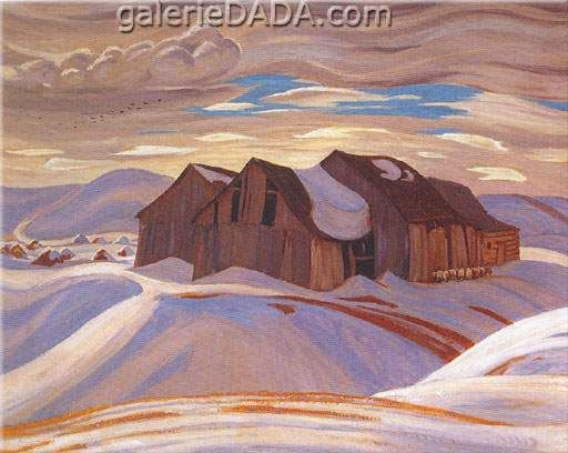 Alexander Y. Jackson,  Barns Fine Art Reproduction Oil Painting