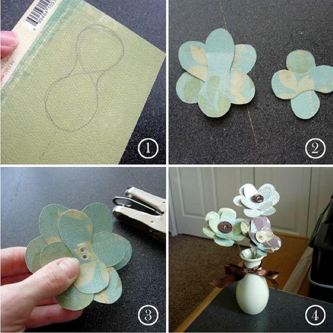 vintage fleur de papier