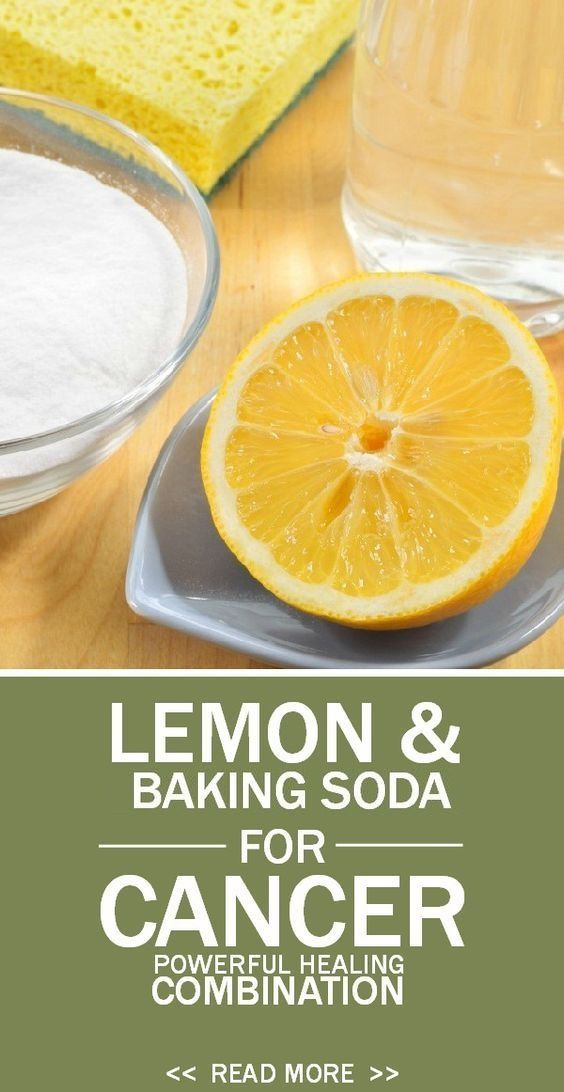The combination of lemon and baking soda has 10 000 times more stronger effect than chemotherapy!