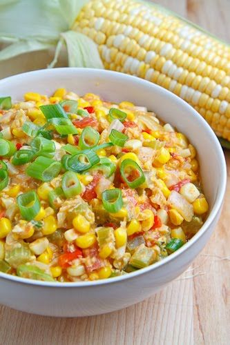 Maque Choux is a dish native to southern Louisiana consisting of corn,