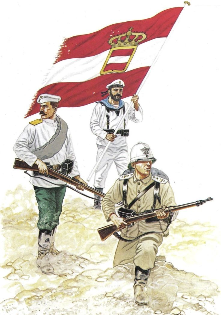 Russian Soldier, Austro-Hungarian Seaman, German Marine - Boxer Rebellion