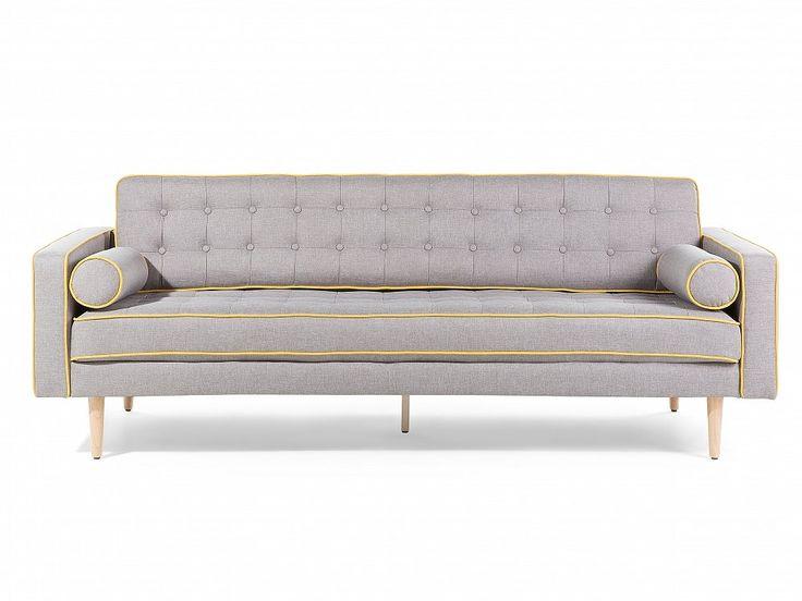 Kanapa szara - sofa - wypoczynek - tapicerowana - nowoczesna - FLAM_670596