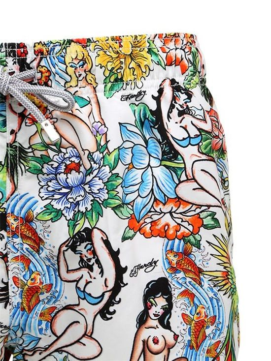 mc2 saint barth - men - swimwear - gustavia hula micro fiber swim shorts