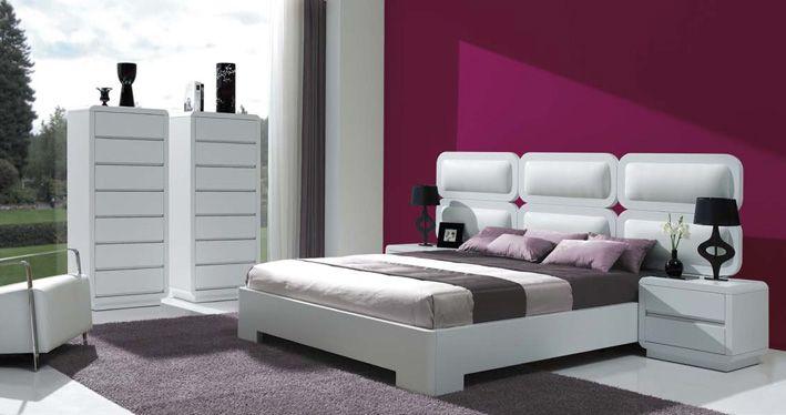 Gepolsterte Betten aus Holz, Modell ABBA DOBLE. Dekoration Beltrán, Ihr Webshop für Holzmöbel.