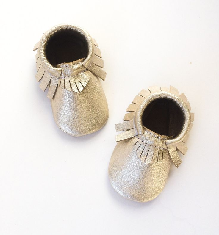 Baby Moccasins, Toddler  Moccasins, Platinum Moccasins Champagne Crib Moccasins, Leather Shoes by WildExplorers on Etsy https://www.etsy.com/listing/197534425/baby-moccasins-toddler-moccasins