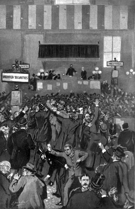 The Panic of 1893 was a serious economic depression in the United States that began in 1893. Similar to the Panic of 1873, it was marked by the overbuilding and shaky financing of railroads, resulting in a series of bank failures. Compounding market overbuilding and the railroad bubble was a run on the gold supply. The Panic of '93 was the worst economic depression the United States had ever experienced up to that time.