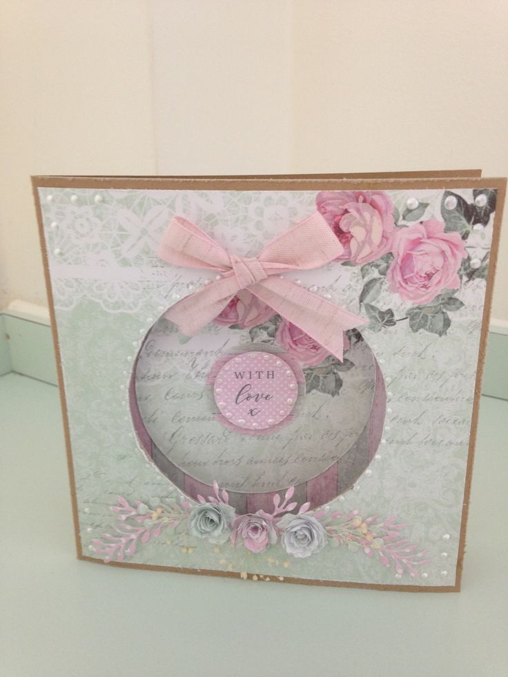 Made by Maxcine Etherington using Craftwork Cards Shabby Chic collection.x