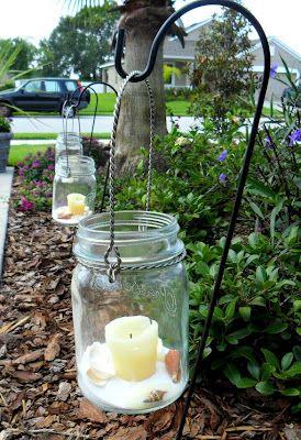 This blog has several ideas using Dollar Tree shepherd hooks.