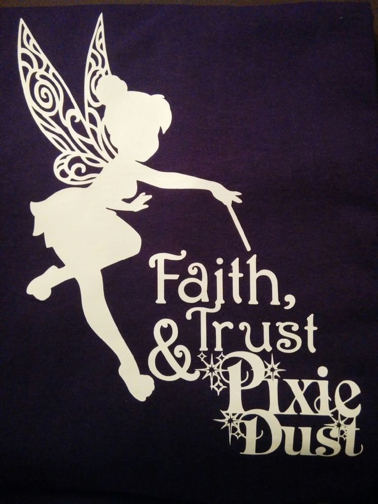 Tinkerbell shirt made with Cricut iron-on vinyl and Cricut Craft Room