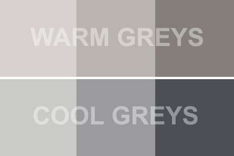 warm versus cool gray. I am much more particular about warm grey tones than cool, I usually don't like them