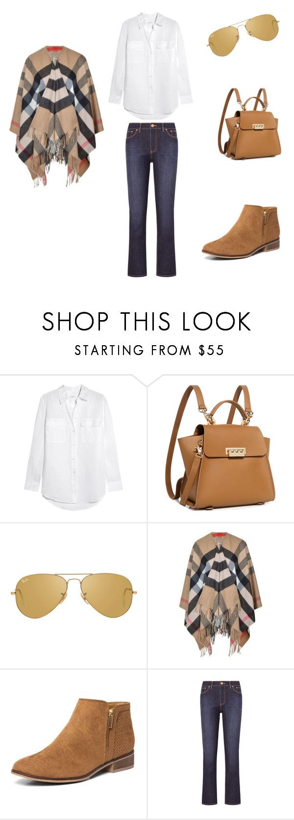 """""""Clasica, dia de campo (60)"""" by jesica-cropanese on Polyvore featuring moda, Equipment, ZAC Zac Posen, Ray-Ban, Burberry, Dorothy Perkins y Tory Burch"""