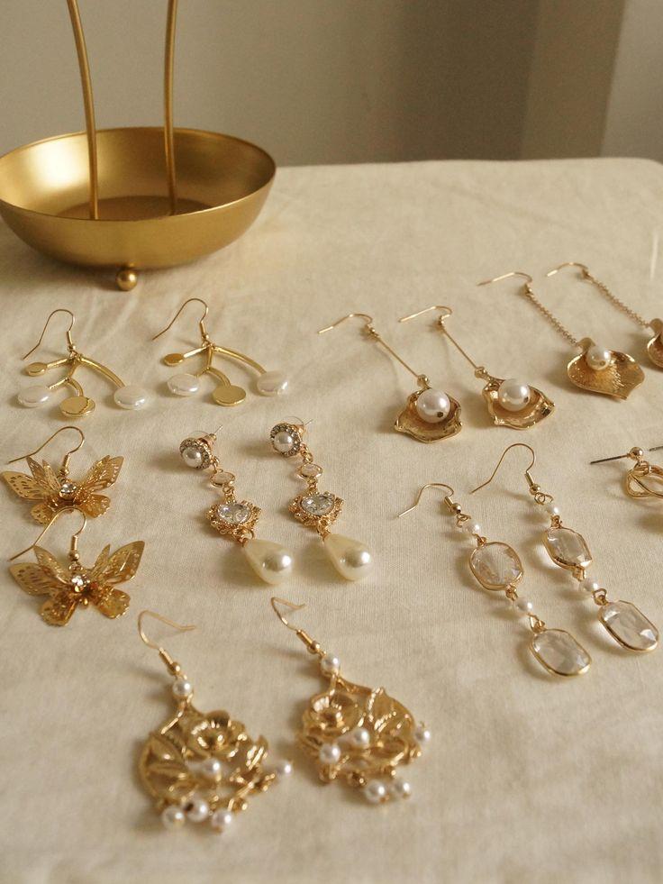 Cherié (Cherry) Earrings *Gold-plated stems