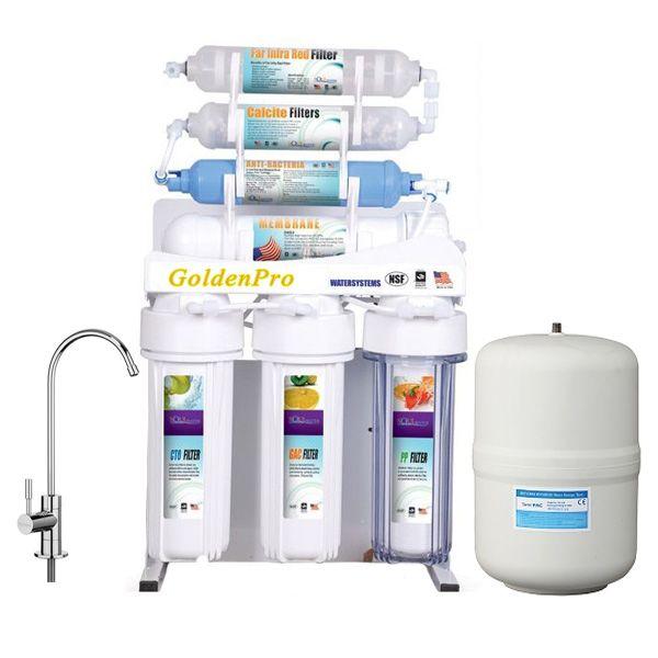 فلتر مياه جولدن برو 7 مراحل Ro جودة ممتازة Bathtub Bathroom