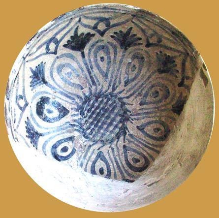 İznik Milet ware, dish, red clay, diameter:16,5 cm ,15 th century, Bursa İslam Eserleri Müzesi  (B)  (Erdinç Bakla archive)