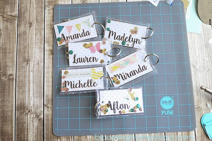 DIY Backpack Tags using #Fuse tool by @wermemorykeepers with video tutorial from @bloominghomestead