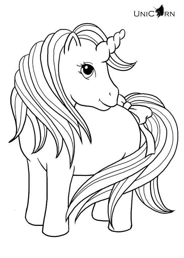 unicorn a really cute girl unicorn coloring page - Cute Baby Unicorns Coloring Pages