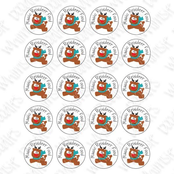 free digital stamp christmas paper craft:  magic reindeer food