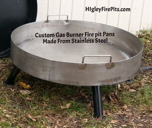 Stainless Steel Gas Burner Fire Pit Pans. Any Dia and Depth. Holes are pre  drilled to your size.www.HigleyFirePits.com | Higleymetals.com | Pinterest  | Fire ... - Stainless Steel Gas Burner Fire Pit Pans. Any Dia And Depth. Holes