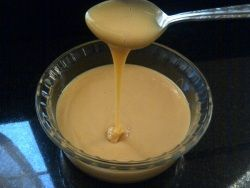 Homemade Sweetened Condensed Milk. Yum Yum Yum and double Yum. I could live on this every day.