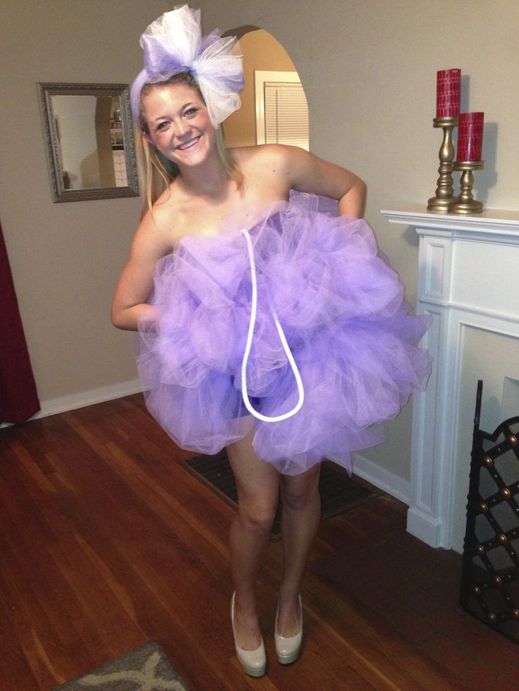 Loofah Costume - attach tulle to a tank top and shorts for the ...