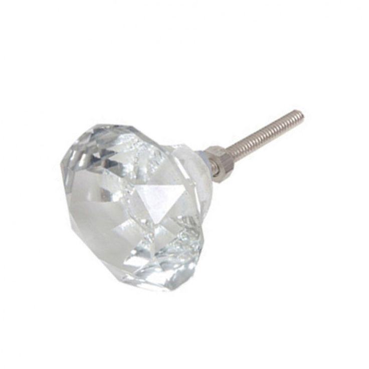 mini faceted glass doorknob from 2.3 cms (1 inch) Bombay duck