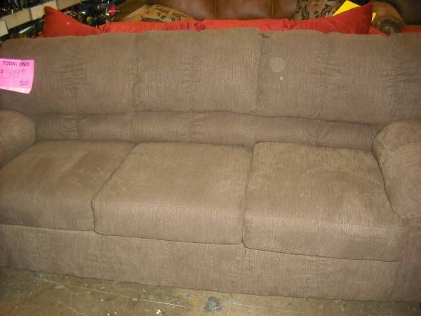 This is for a brand new ashley furniture brown microfiber sofa and loveseat set we have this Brown microfiber couch and loveseat