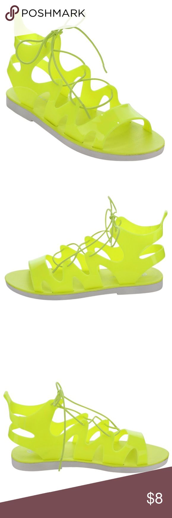 Neon Jelly Neon Yellow Jelly LOLLIPOP 🍭 FITS WIDE FEET TOO! Chase & Chloe Shoes Sandals