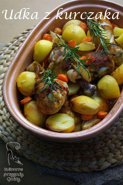 Udka z kurczaka pieczone w garnku rzymskim | Kulinarne przygody Gatity - przepisy pełne smaku