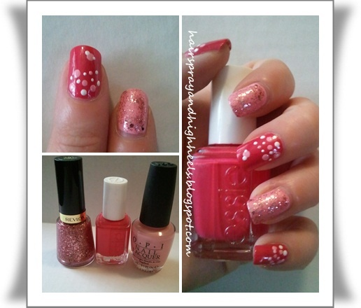 nails nails nails nails nails nails: Styles Nails, Nails Nails, Pink Dots, Kids Birthday, Valentine Day, Poka Dots, Valentine Nails, Nails Valentine, Nails 3