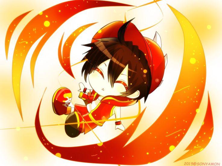 BOBOIBOY FIRE CHIBI by sonyamon