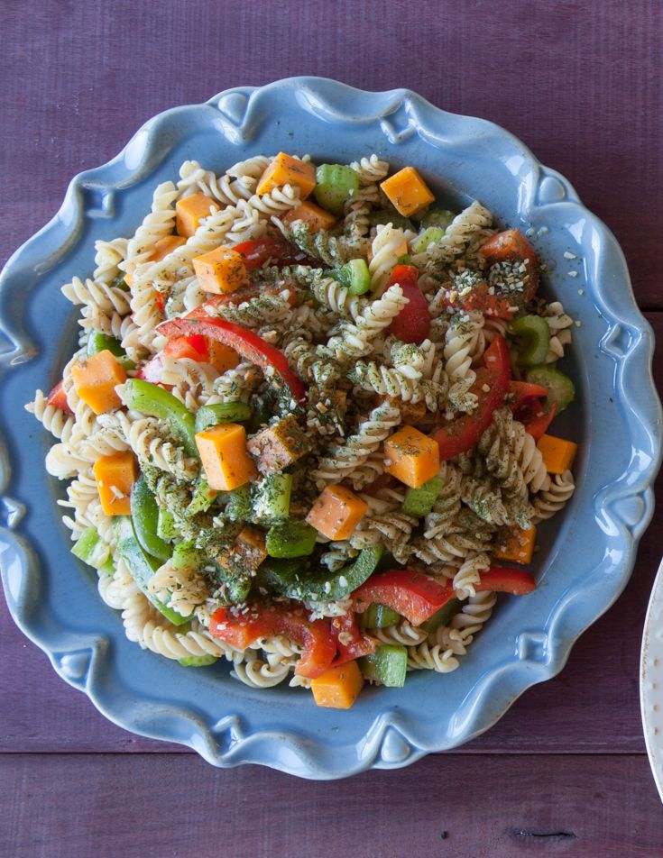 #Epicure Everyday Pasta #Salad with Balsamic Vinaigrette & Garlicky Dill Topper