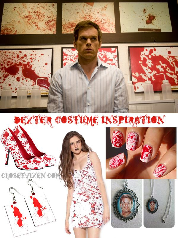Blood spatter Dexter Halloween costume inspiration. Shoes available on our website!