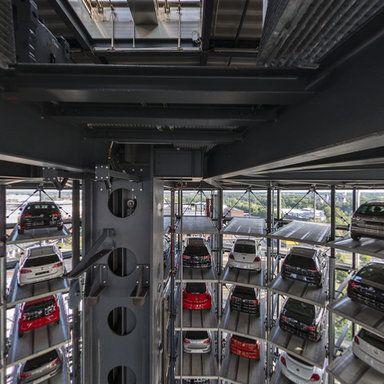 Autostadt Wolfsburg - Autoturm Panoramic photo by Willy Kaemena