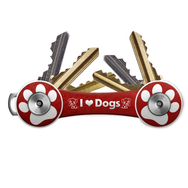 Love dogs? Crazy about your pooch? Now you can be reminded of him every time you use your keys, which the HandyKey for dog lovers transforms into a compact and efficient Swiss-Army-knife-like keyring. It comes in red, with an exclusive paw shape design and laser engraved logo. Made from super-strong aircraft-grade aluminum and stainless steel. Fits up to 8 regular keys.