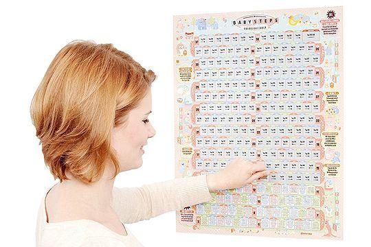 """Rubbelkalender """"BabySteps"""""""